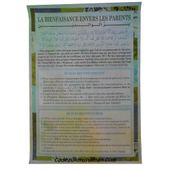 "Poster ""La bienfaisance envers les parents"""