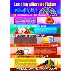 "Poster ""LES CINQ PILIERS DE L'ISLAM"""