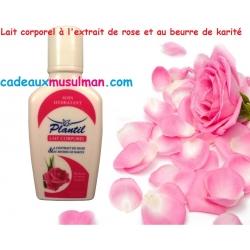 Lait corporel à l'extrait de rose et au beurre de karité