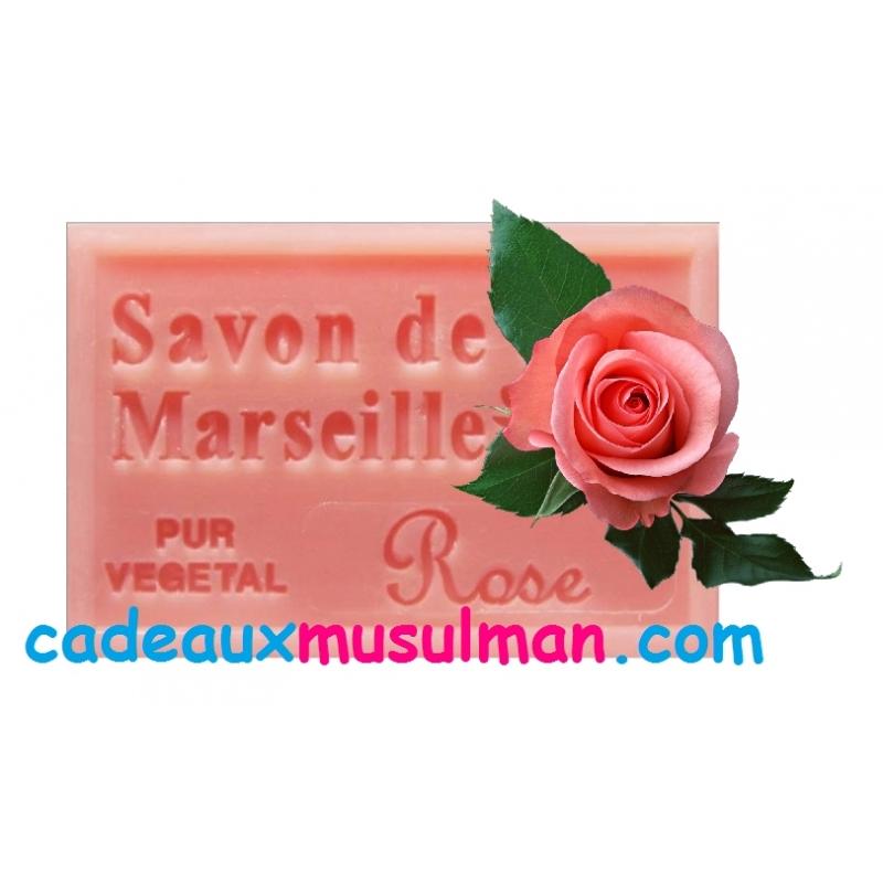 Savon de marseille à la rose