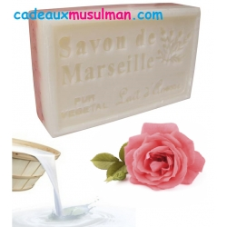 Savon de marseille Lait anesse/Rose fleurs