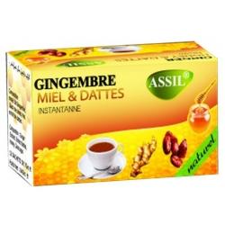 Thé gingembre miel dattes