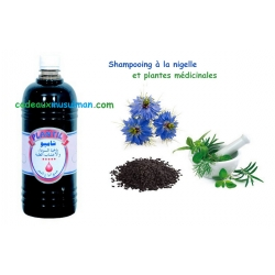 Shampooing nigelle et plantes