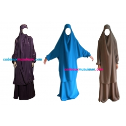 Jilbab manche élastique