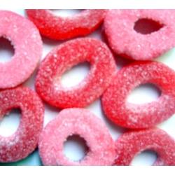 Anneaux rouge acides