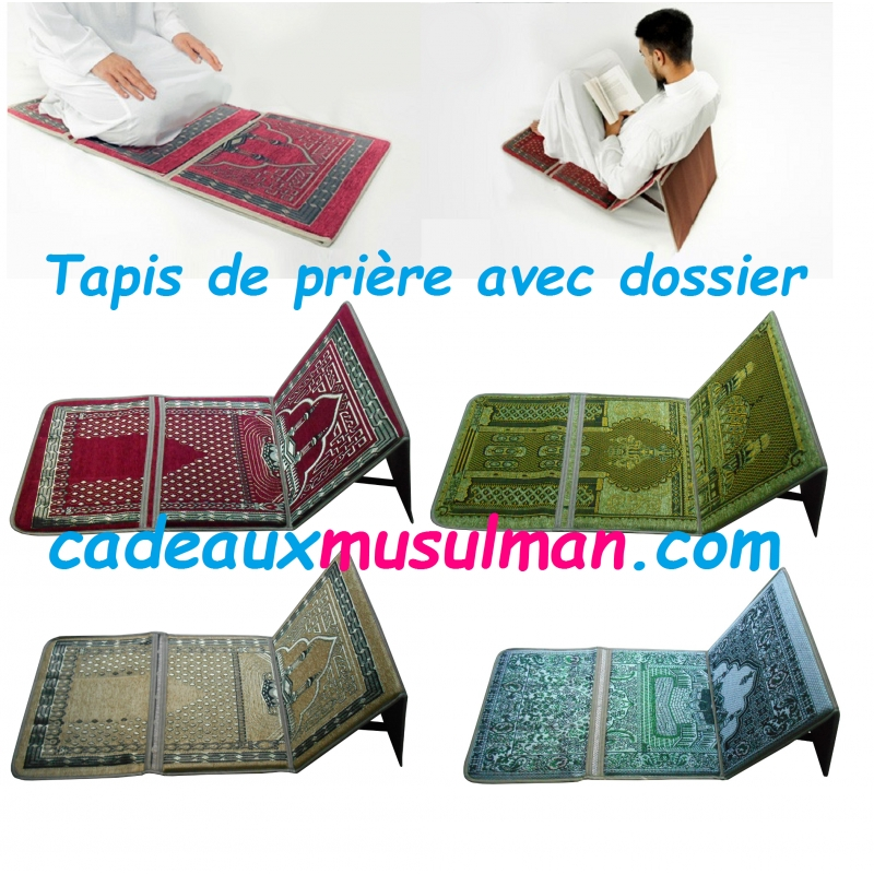tapis de pri re pliable avec dossier. Black Bedroom Furniture Sets. Home Design Ideas
