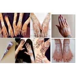 Cône de henné blanc