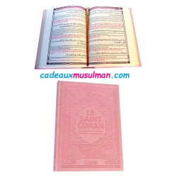 Coran couverture rose pastel