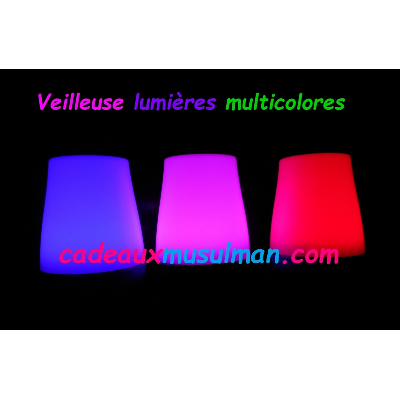 Veilleuse coranique lumières multicolores