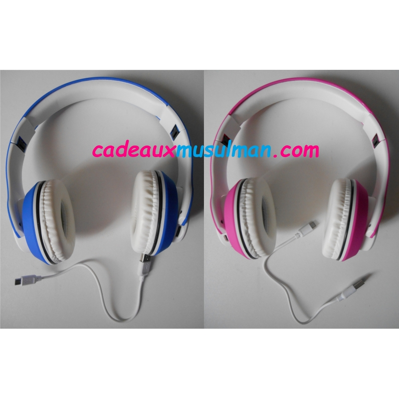 Casque audio Coranique SD, Bluetooth