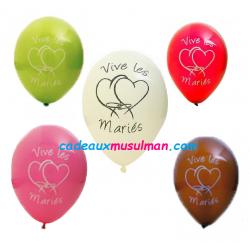 """Ballons """"vive les mariés"""""""