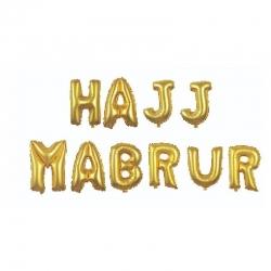 Lettres ballons Hajj Mabrur