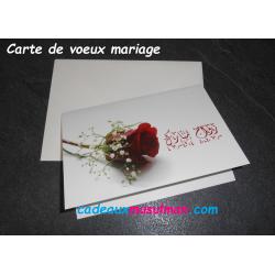 Carte de voeux mariage...
