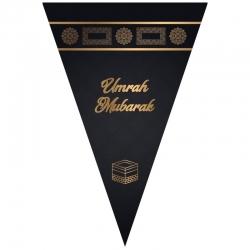 Bannière fanion Umrah Mubarak