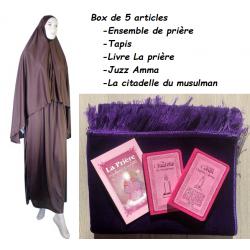 Pack prière femme tapis violet