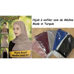 Hijab à enfiler soie de Médine